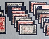 Oklahoma Bicentennial 1976 Stamp Reproduction Postcards, Complete Set of 18
