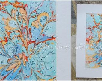 energy painting on water, drawing, fantasy, ebru painting, marbling