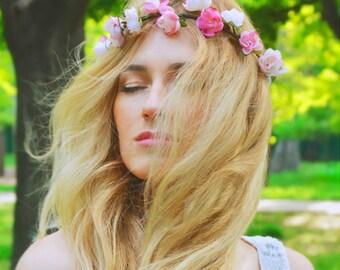 Flower Crown, Hair Wreath, Flower Accessories, Hair Garland, Floral Crown
