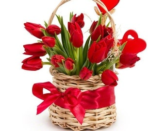 Mother's Day Gift - Artificial Tulip Flower Arrangements, Valentine's Day Gifts for Her
