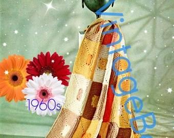INSTANT DOWNlOAD - PdF Pattern - Afghan Crochet Pattern Vintage 1960s Fantasy Crochet Pattern Easy Crochet Pattern