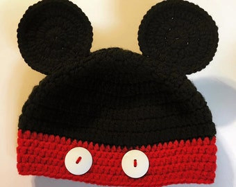 Mickey Mouse Inspired Hat, Disney Hat