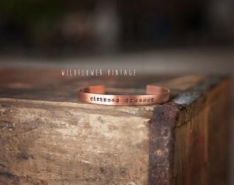 Dirtroad Dreamer Copper Cuff Bracelet | Boho Jewelry
