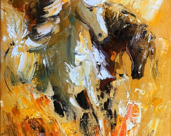 horse wall art giclee on canvas oil painting print animal. Black Bedroom Furniture Sets. Home Design Ideas