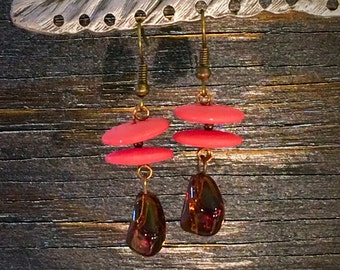 Handmade Earrings, Vintage Beads