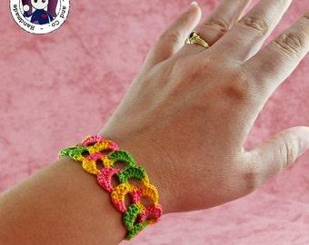 Crocheted bracelet (multicolored)