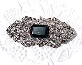 Vintage Deco Brooch Rhinestone Brooch Vintage Jewelry VA-128
