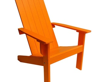 Modern Adirondack Chair - Square Back made from Poly
