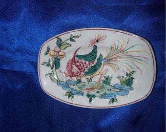 "Handpainted Porcelain Posy/Pin Dish ""Autunm Agenda"""