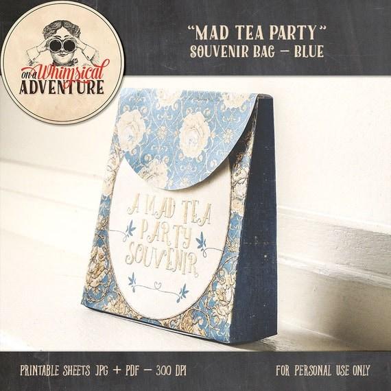 Alice In Wonderland printable DIY souvenir treats bag