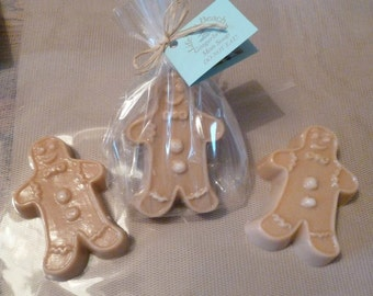 Gingerbread Man Soap. Warm Gingerbread Fragrance. Christmas Gift. Gift Wrapped.