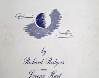 Vintage Sheet Music Blue Moon 1935 Rodgers & Hart