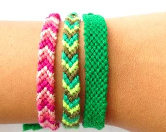 colorful bracelet, chevron friendship bracelets, pink woven bracelet, green braided bracelet, aztec bracelets, bestseller item, multicolor