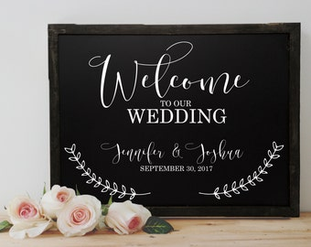 Chalkboard Wedding Welcome Sign - Wedding Welcome Chalkboard - Chalkboard Welcome sign for Wedding - Welcome Chalkboard for Wedding