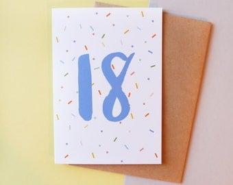 18 birthday card // Greeting card