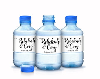 Wedding Water Bottle Labels, Personalized Water Bottle Labels, Wedding Labels, Wedding Welcome Bags, Calligraphy Label, Wedding Favor