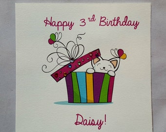 Personalised Handmade Childrens Birthday Card