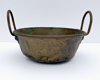 Old Brass Pot