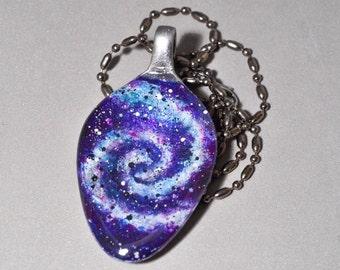 Galaxy ~ Nebula ~ Spoon Necklace