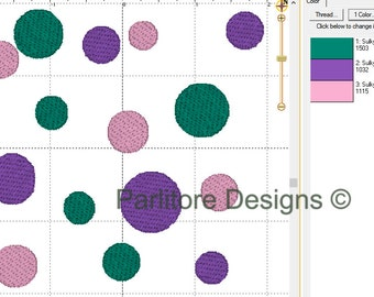 """Polka Dot Embroidery Design ~ Instant Download ~ 5 Sizes! 2"""", 3"""", 4"""", 5"""", and 6"""""""