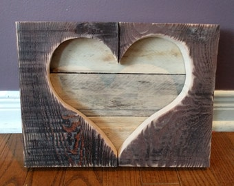 Beautiful one of a kind pallet wood heart