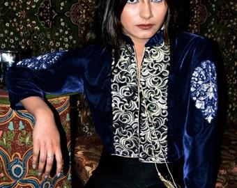 Midnight Blue Velvet Jacket