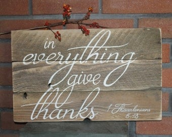 Give Thanks pallet sign