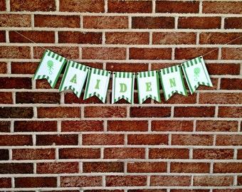 Custom Baby Name Banner, Baby Shower Banner, Maternity Shoot Prop