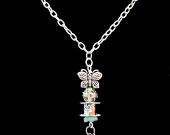Butterfly and Bobbin Necklace, N5054