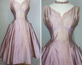 Blush Champagne Party Dress | 1960s | Women's M