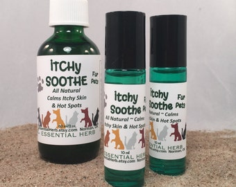 Itchy Soothe Fur Pets, Essential Oil Blend, Calm Itchy Skin & Coat, Soothe Hot Spots, Pet Itching, Pet Groomer, Happy Pets