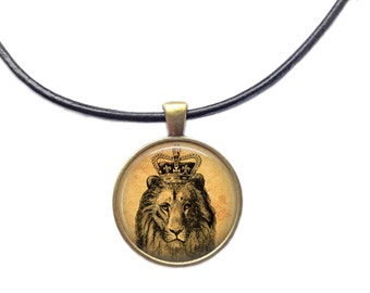 Royal jewelry Lion necklace Animal pendant