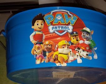 Custom Easter Bucket/Kids Gift Bucket/Personalized Easter Bucket/Personalized Gift Bucket