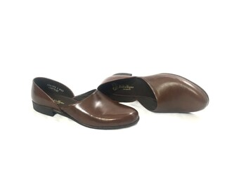 1960's Men's Slipper | Evans Radio Tyme At Home Footwear Leather Slippers | Size: 10