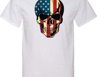 USA Skull Mens Tall Tee T-Shirt WS-17615-PC61T