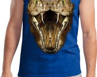 Men's Funny Tanktop Big Cobra Snake Face Tank Top 18209D0-2200