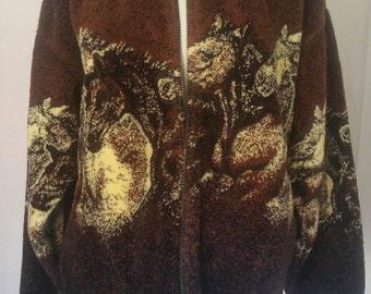 Mazmania Horse Zip Front Jacket