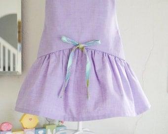 Drop Waist Toddler Dress with Peter Pan Collar