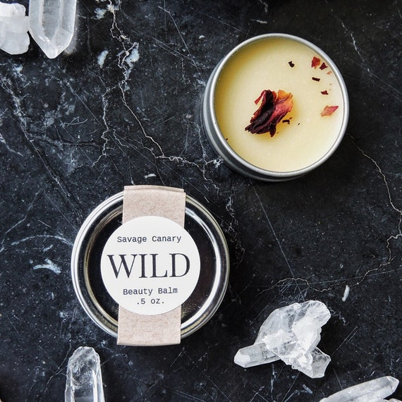 Wild Beauty Balm with Wildcrafted Lemon Balm and Rose .5 oz. tin