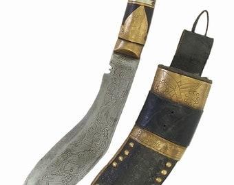 Gurkha kukri Knife Straigh Blade Islamic Short sword Dagger choora dagger Pesh kabze kukri Nepal No: MS/12