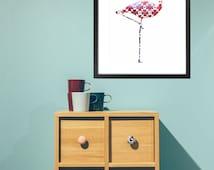 articles populaires correspondant affiche flamant rose. Black Bedroom Furniture Sets. Home Design Ideas
