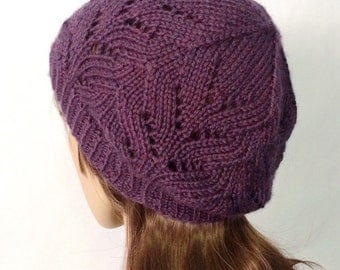 Purple Knitted Hats for Women, WInter Hats for Women, Knitted Hats Women, Womens Caps, Womens Winter Hats, Christmas in July Gift, CIJ