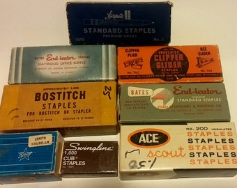 Assortment of Vintage office staples - Each one a different brand