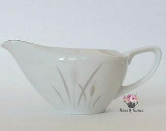 Fine China Platinum Wheat Creamer - Fine China of Japan