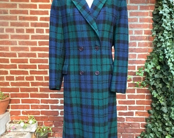 Vintage Pendleton jacket plaid, double breasted sz 10 made in USA pendelton