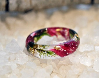 nature rings - nature inspired rings - nature ring  - resin ring - eco resin - moss - moss terrarium - natural moss - resin moss rings