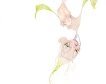 "Dior pop surrealism flower haute couture fashion illustration ""Rosae Diora"" art print"