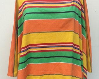 Ralph Lauren Super bright Stripy Poncho