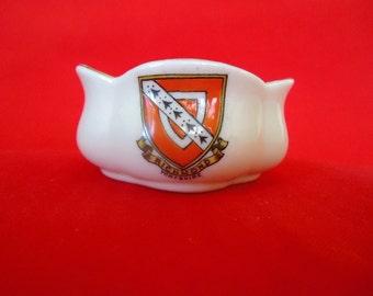 Tiny Souvenir of Richmond Yorkshire Clover Shaped Bowl by W & R STOKE on Trent Carlton China