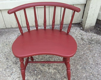 Cute Corner Chair in Arizona Red